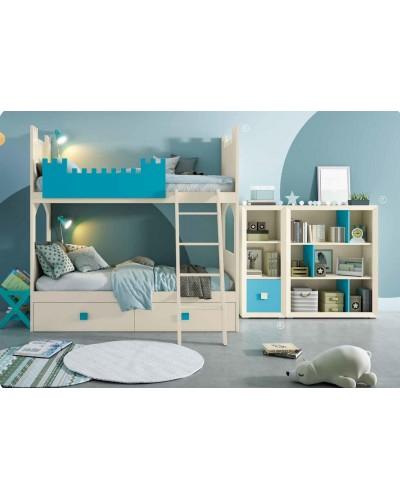 Dormitorio Juvenil infantil colonial moderno diseño 1374-28B