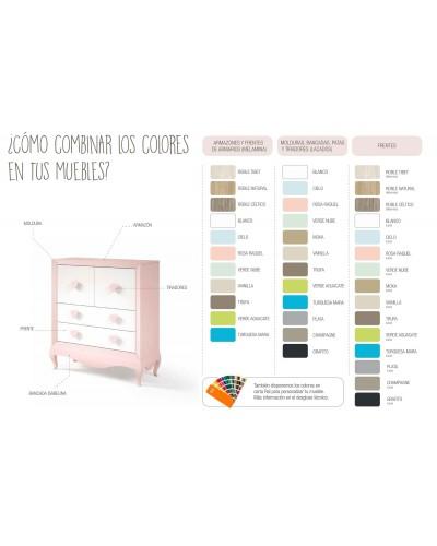 Dormitorio Juvenil infantil colonial moderno diseño 1374-28A