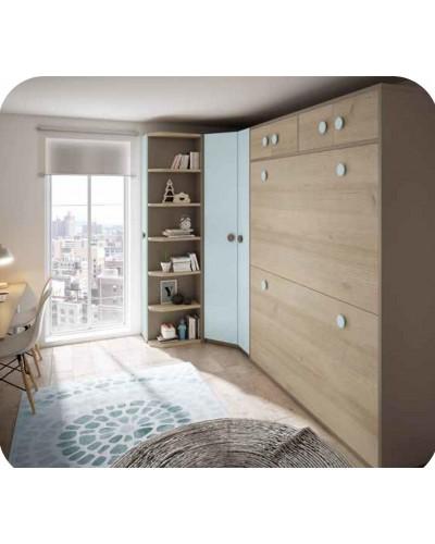 Dormitorio Juvenil infantil colonial moderno diseño 1374-29