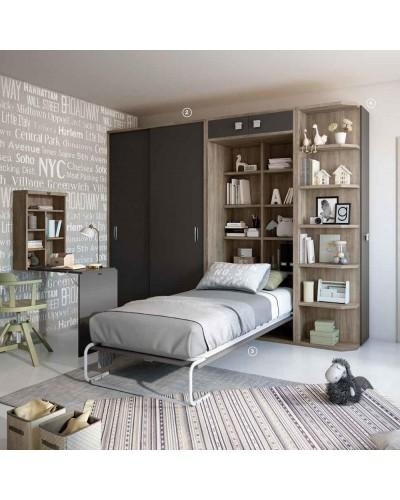 Dormitorio Juvenil infantil colonial moderno diseño 1374-32
