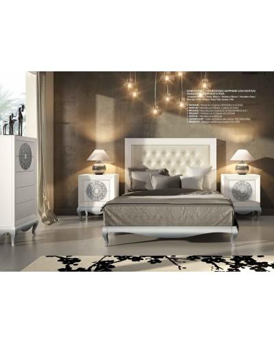 Dormitorio matrimonio colonial moderno diseño 1374-C02