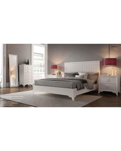 Dormitorio matrimonio colonial moderno diseño 1374-C03