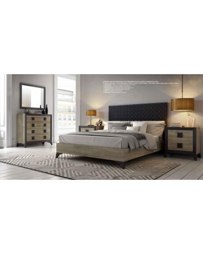 Dormitorio matrimonio colonial moderno diseño 1374-C05