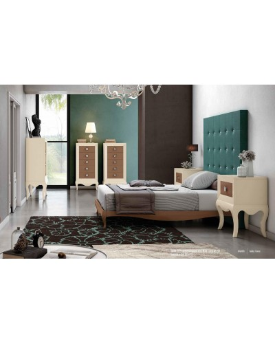 Dormitorio matrimonio colonial moderno diseño 1374-C001