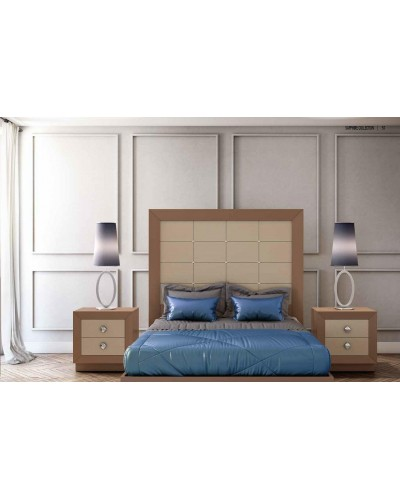 Dormitorio matrimonio colonial moderno diseño 1374-C002