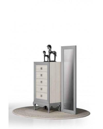 Dormitorio matrimonio colonial moderno diseño 1374-C003