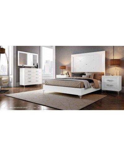 Dormitorio matrimonio colonial moderno diseño 1374-C004