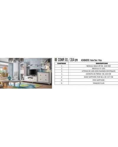 Mueble comedor colonial moderno diseño 1374-CM01