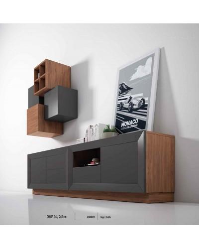Mueble comedor colonial moderno diseño 1374-CM04