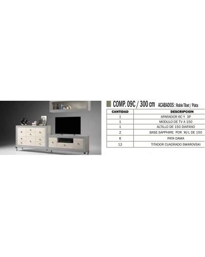 Mueble comedor colonial moderno diseño 1374-CM09C