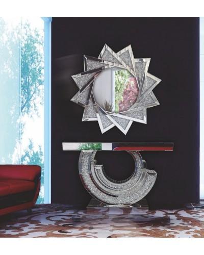 Recibidor moderno acero cristal vintage 1362-RS 2089