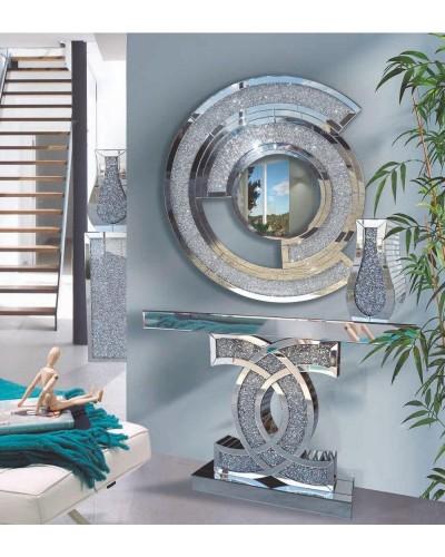 Recibidor moderno acero cristal vintage 1362-RXF2125