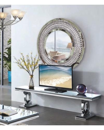 Mueble tv moderno acero cristal vintage 1362-TV922