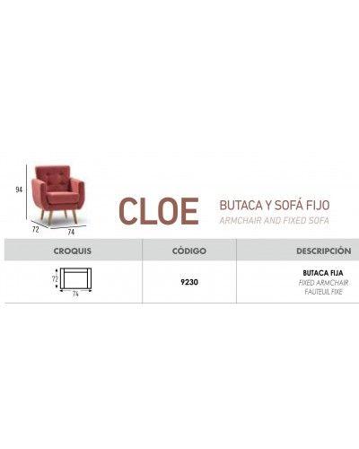 Butaca colonial clasico fijo diseño 648-01