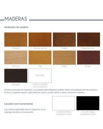 Sillón fijo tapizado y madera moderno 46-200