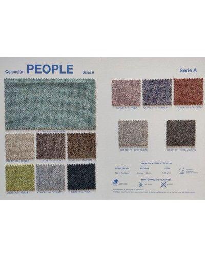 Sillon fijo tapizado y madera moderno 46-11