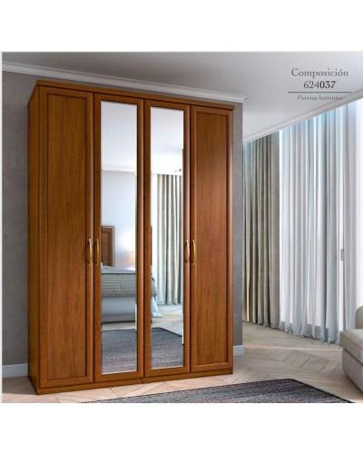 Armario 4 puertas Batientes matrimonio clasico 508-PA37