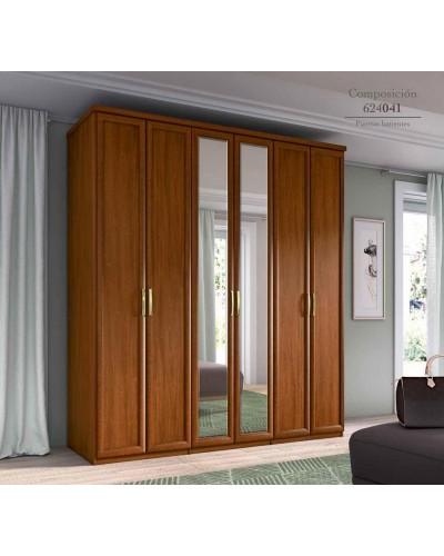 Armario 6 puertas Batientes matrimonio clasico 508-PA41