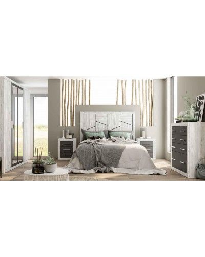 Dormitorio matrimonio moderno vintage colonial 60-JOR407