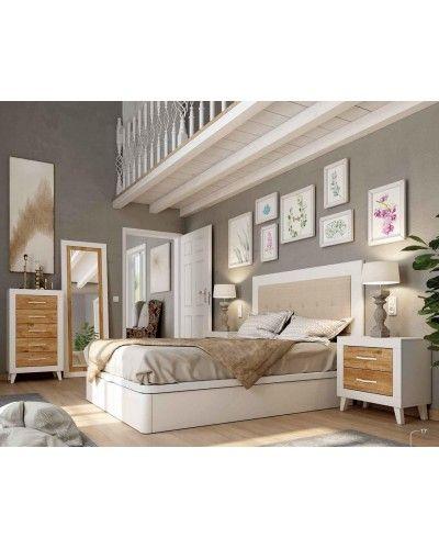 Dormitorio matrimonio moderno vintage colonial 60-JOR408