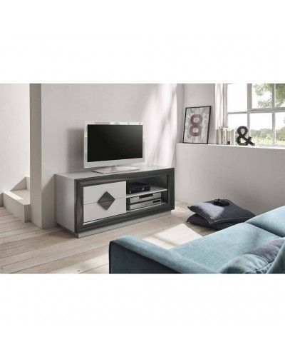 Mesa TV moderna lacado brillo 194-2013 Gris