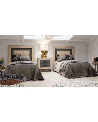 Dormitorio matrimonio moderno vintage colonial 60-JOR412