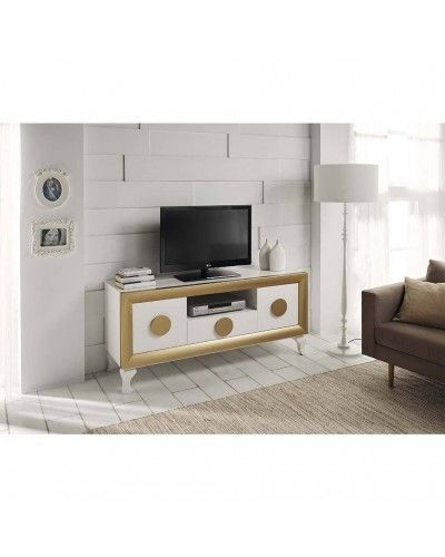 Mesa TV moderna lacado brillo 194-2012 Blanco