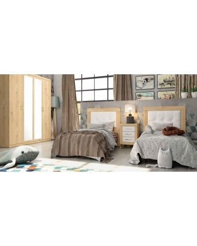 Dormitorio matrimonio moderno vintage colonial 60-JOR439