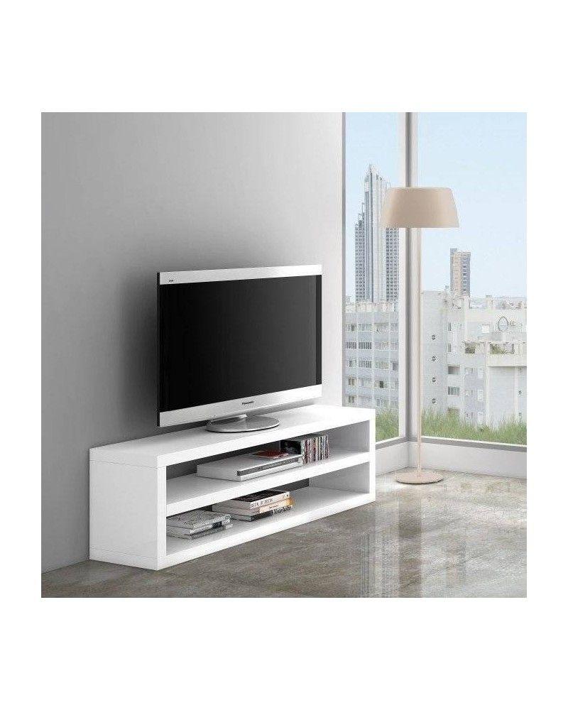 Mesa TV moderna lacado blanco 962-504