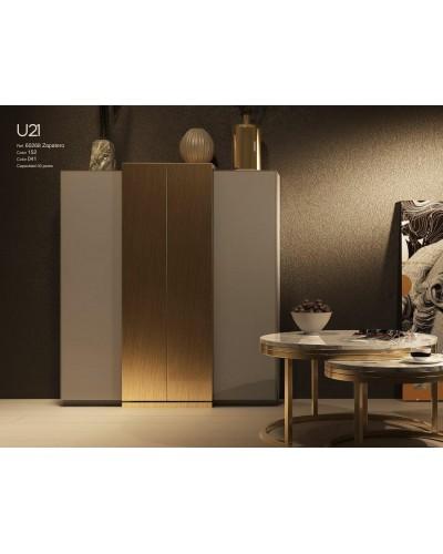 Mueble zapatero moderno lacado alta calidad 397-UN21