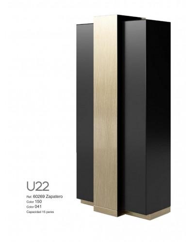 Mueble zapatero moderno lacado alta calidad 397-UN22