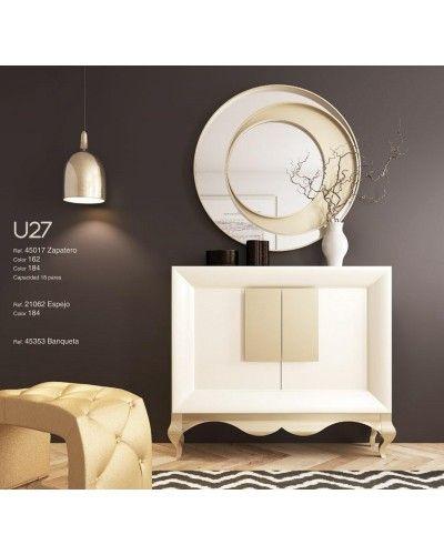 Mueble zapatero moderno lacado alta calidad 397-UN27