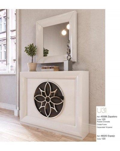 Mueble zapatero moderno lacado alta calidad 397-UN31