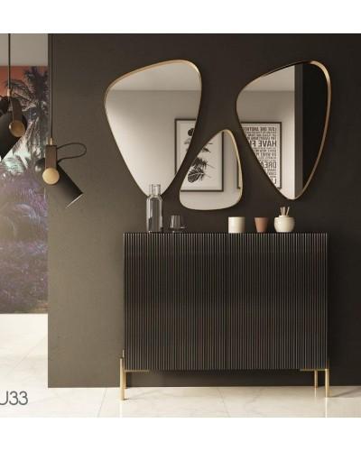 Mueble zapatero moderno lacado alta calidad 397-UN33
