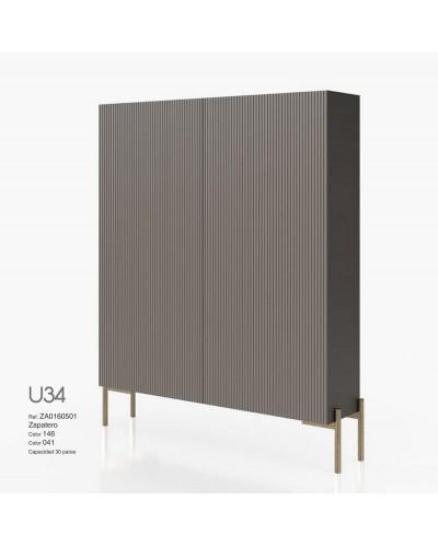 Mueble zapatero moderno lacado alta calidad 397-UN34