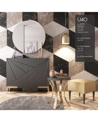 Mueble zapatero moderno lacado alta calidad 397-UN40