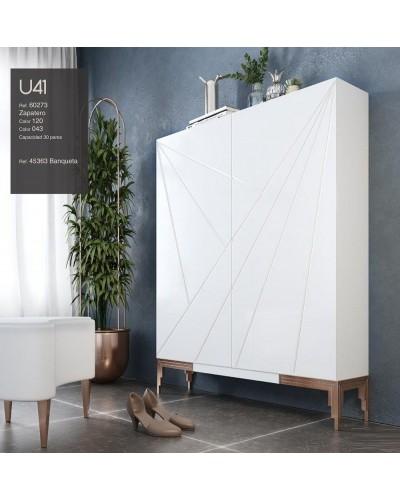 Mueble zapatero moderno lacado alta calidad 397-UN41
