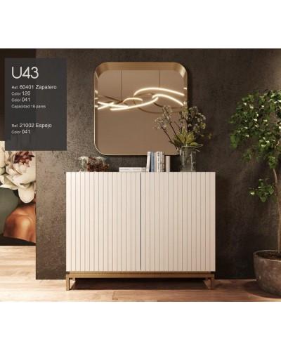 Mueble zapatero moderno lacado alta calidad 397-UN43