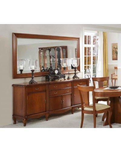 Aparador clásico cerezo con espejo 194-950-909