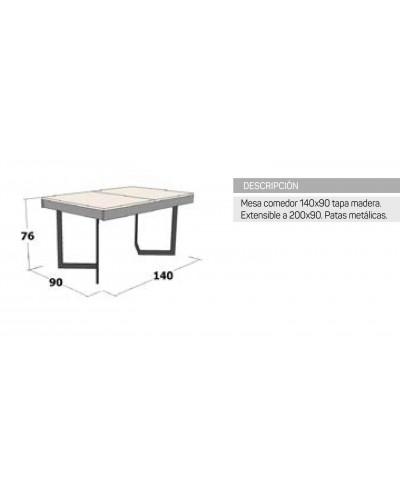 Mesa  comedor moderna diseño 162-IR449