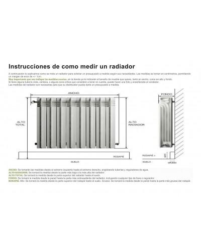 Cubreradiador moderno madera lacado 1443-007