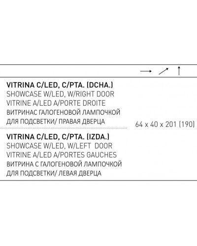 Vitrina moderna lacada 194-2026