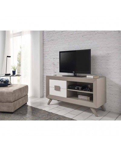 Mesa TV moderna lacado brillo 194-2013 Gris
