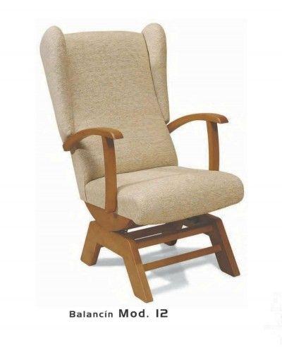 Balancin tapizado y madera moderno 46-12