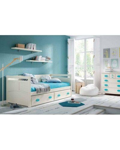 Dormitorio Juvenil colonial moderno diseño 79-OC301