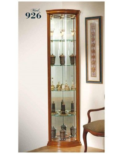 Vitrina rincón clásica madera 194-926