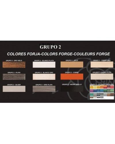 Cubreradiador Diseño forja metálico 1215-Cristal