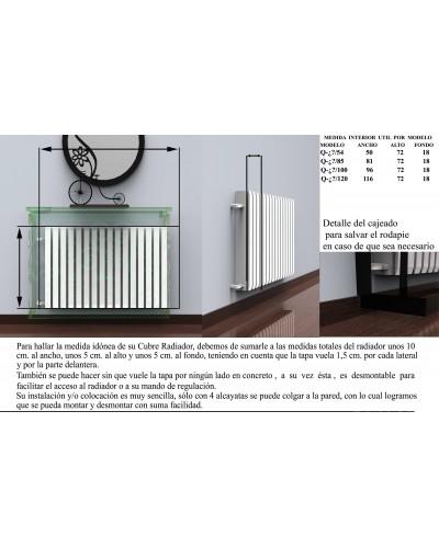 Cubreradiador Diseño forja metálico 1215-Algarabia con cajon
