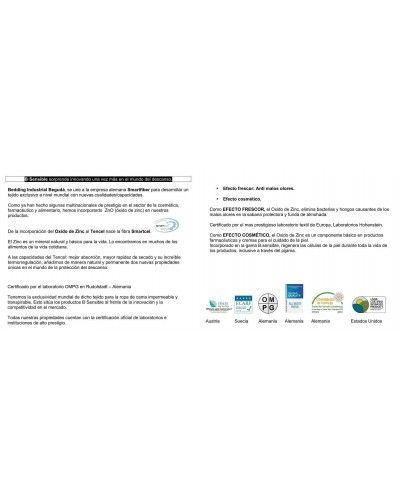 Sabana bajera SMARTCEL TENCEL impermeable transpirable 1213-01 Blanco