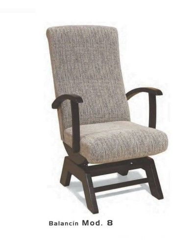 Balancin tapizado y madera moderno 46-08